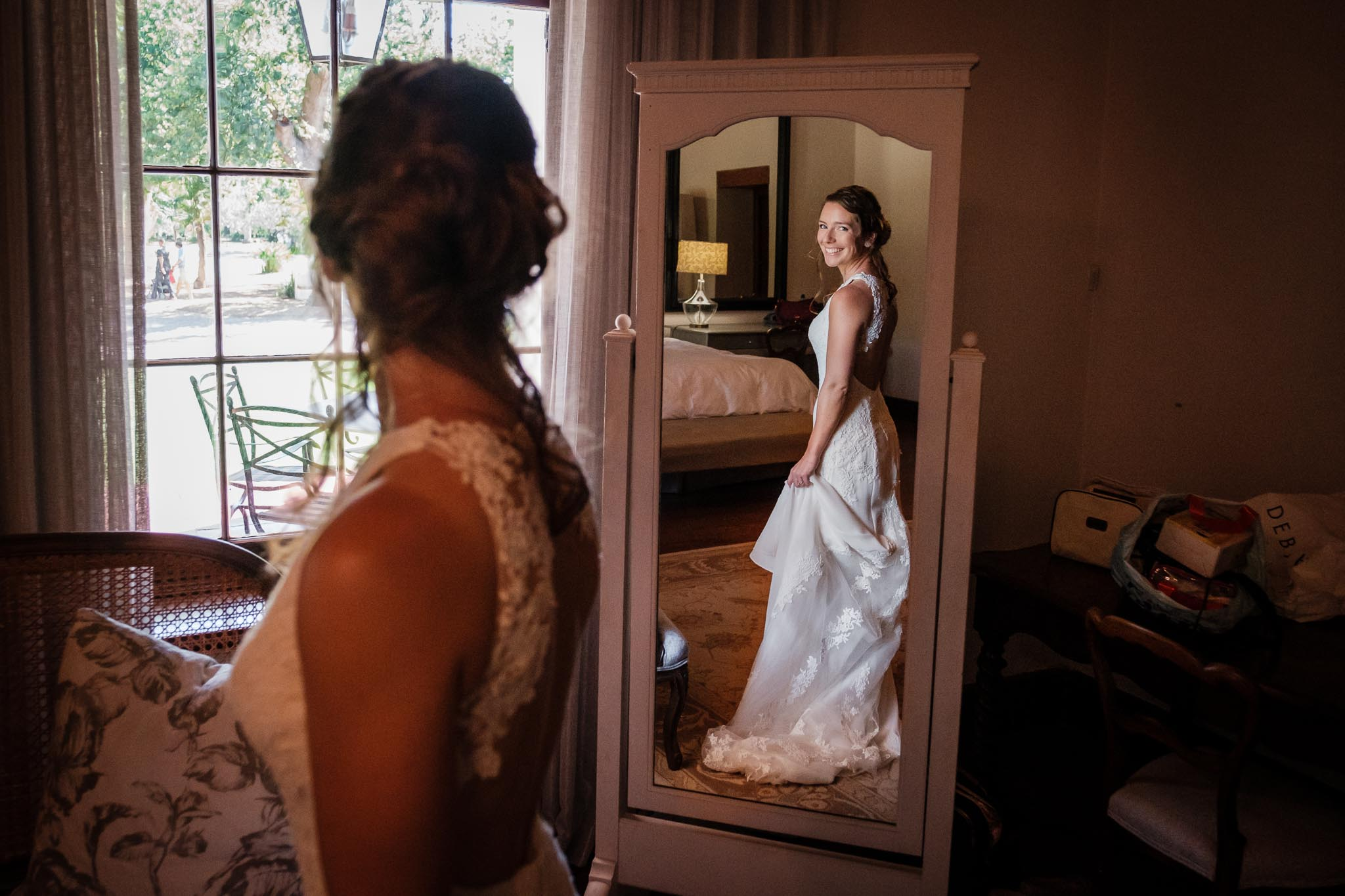 Bridal mirror portrait