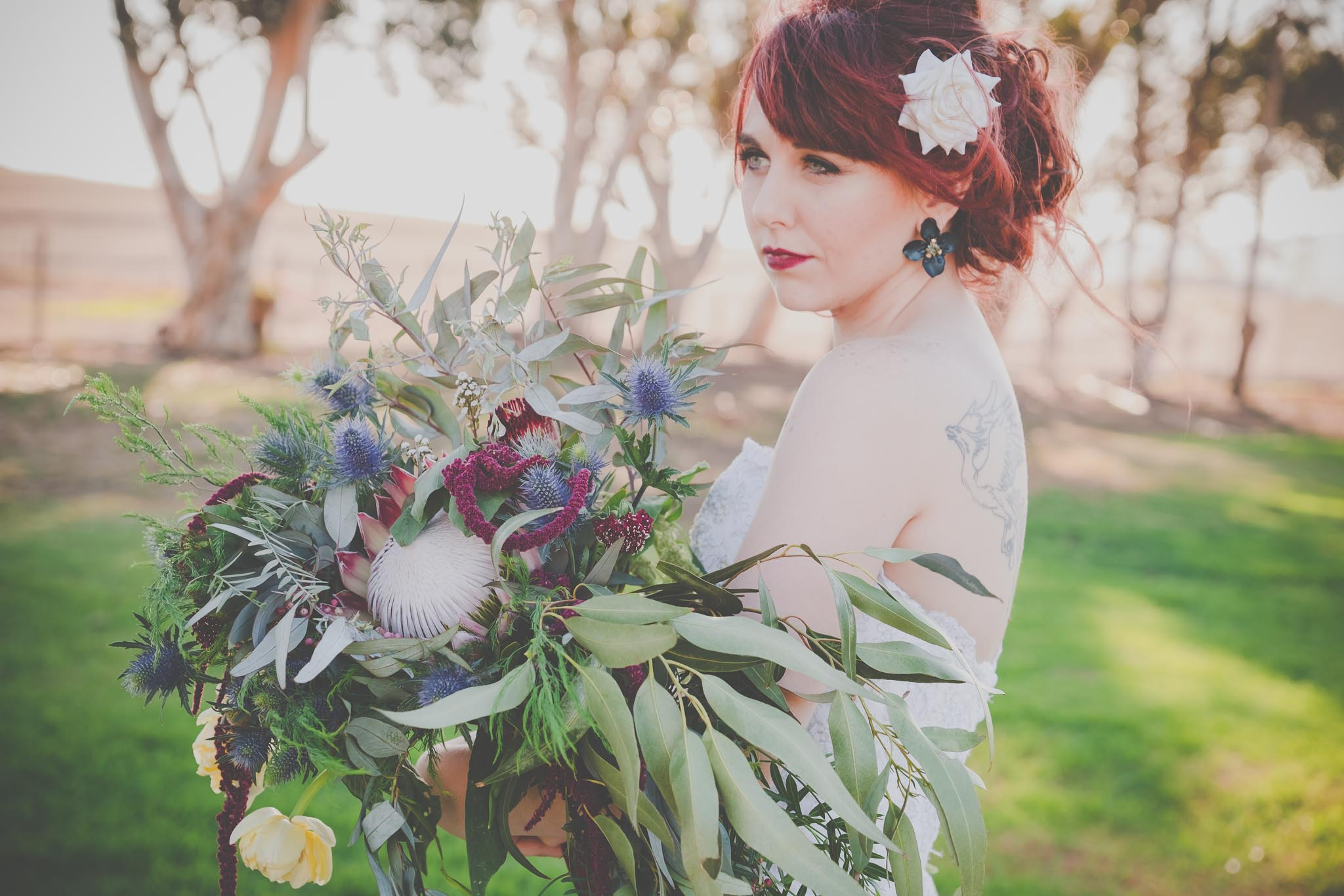 bride and bouquet