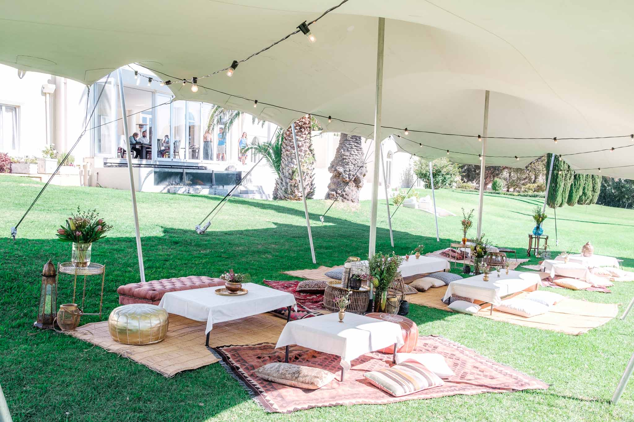 reception outdoor setup