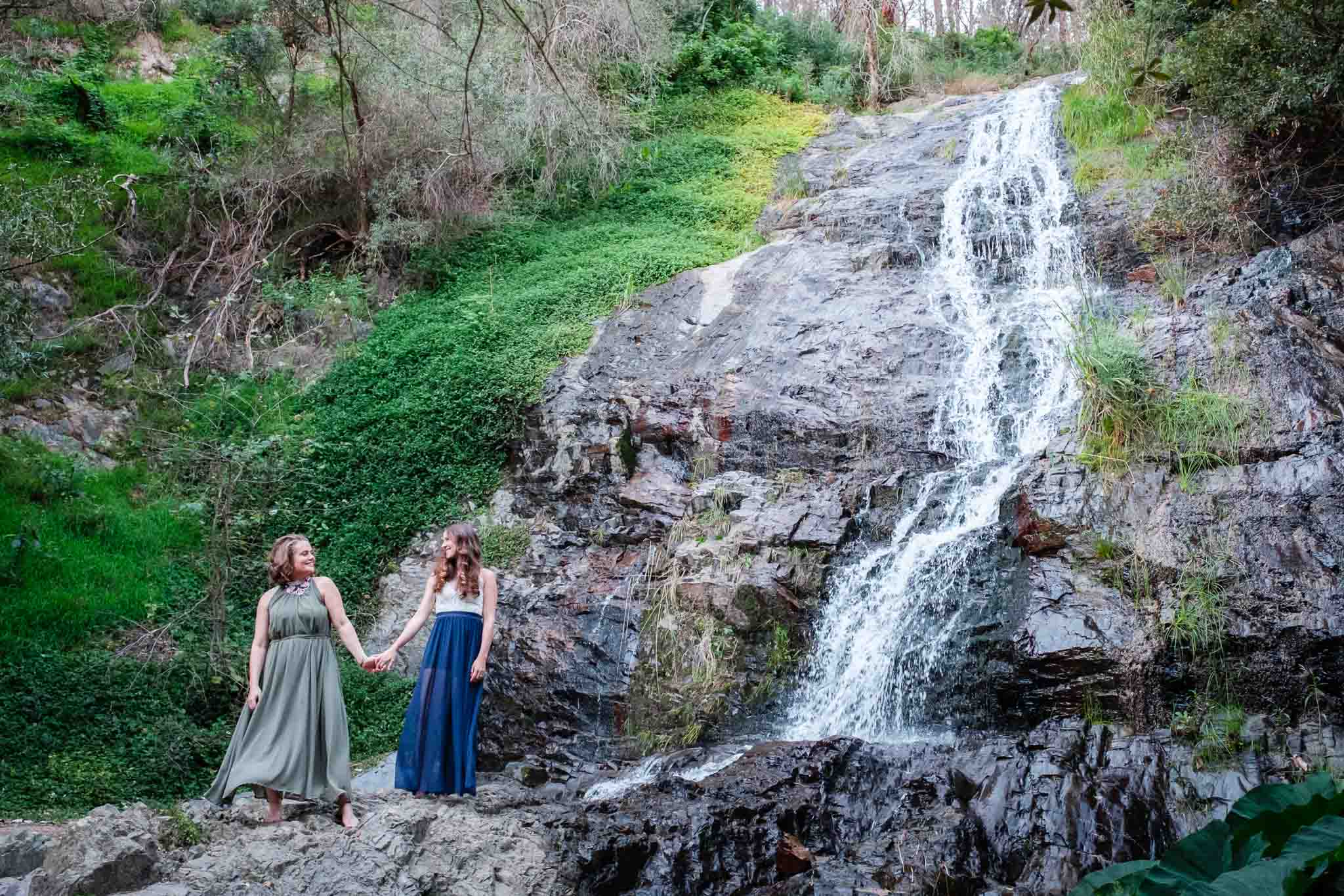 Wedding at a waterfall