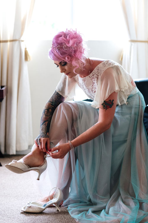 Ros getting ready at Craxton Manor in Constantia - the dressing room - before her wedding.